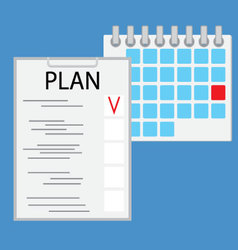 Planning day work flat vector