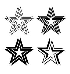 Black star symbol infinite loop vector