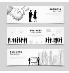 Business people banner vector