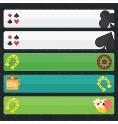Casino or poker banners vector image vector image