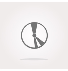 Cd disk web icon button icon vector