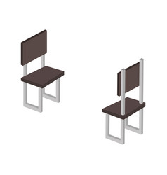 Chairs forniture isometric icon vector