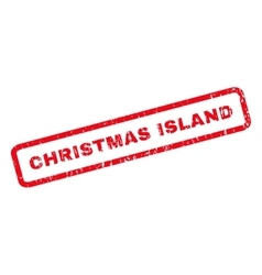 Christmas Island Rubber Stamp vector image