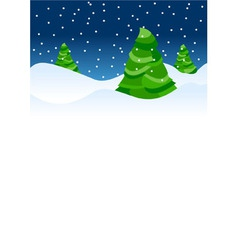 christmas tree backdrop vector image vector image