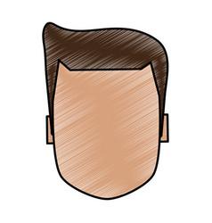 Color pencil image faceless front view executive vector