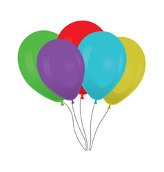 Colorful balloons bouquet vector