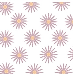 colorful flowers and isolated background vector image vector image