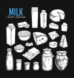 Dairy products collection 1 vector