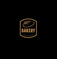 gold retro bakery badge vector image