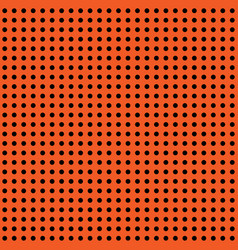 halloween polka dot background orange and vector image vector image