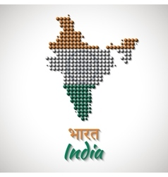 India Map color dotted design vector image