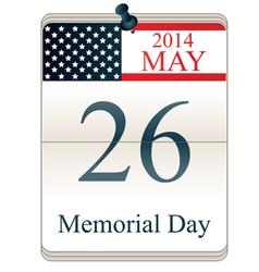 Memorial Day 2014 vector image vector image