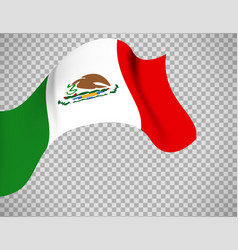 Mexico flag on transparent background vector