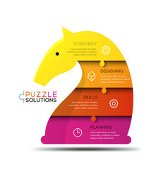 modern infographic design template jigsaw puzzle vector image vector image