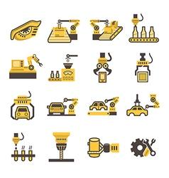 Robot icon vector image vector image