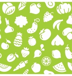 Seamless pattern fruits and vegetables vector image vector image