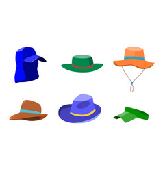 set of summer hats for men and women vector image