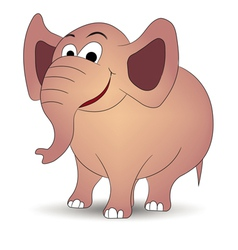 smiling elephant vector image vector image