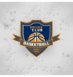 Sport basketball team game logo vector