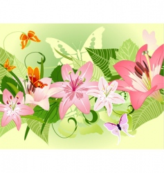 summer pattern with lilies vector image