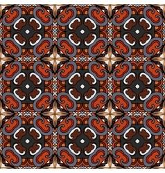 tiled pattern ethnic floral print vector image