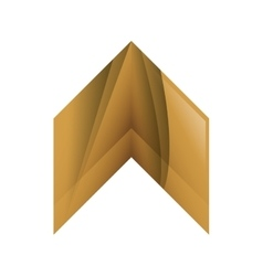 Wood Arrow icon Direction design graphic vector image vector image