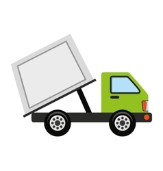 Truck vehicle recycle garbage icon vector