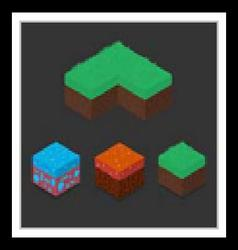Collection set of 3d isometric landscape cubes vector