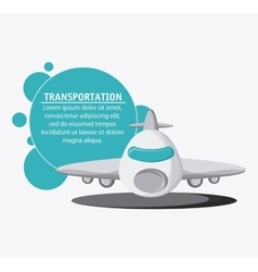Airplane transportation vehicle travel vector