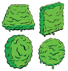 Slimy shapes vector
