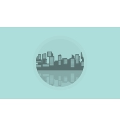 Silhouette of building industry icon vector image