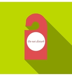 Do not disturb sign icon flat style vector
