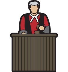 Judge cartoon vector
