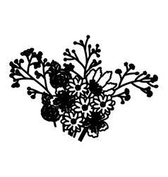 Isolated flower decoration design vector