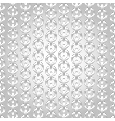 Silver chain seamless abstract pattern vector image