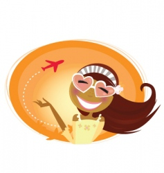 girl tourist vector image