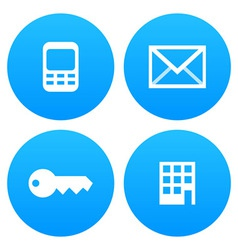 Mobile email key and office vector