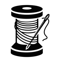 Spool of thread vector image