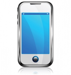 Stylish silver cell phone vector