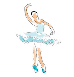 Ballerina drawing vector
