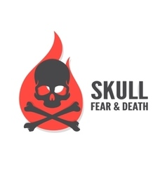 Skull with flame logo or icon vector