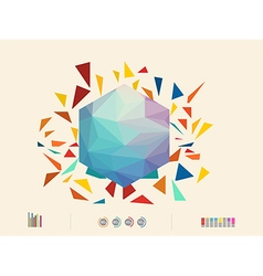 Colorful triangle vector