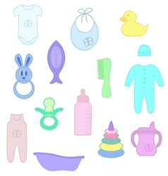 Things for baby vector