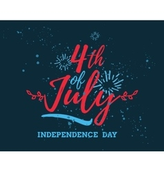 July fourth united stated independence day vector
