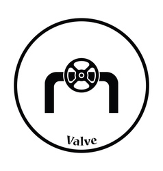 Icon of pipe with valve vector