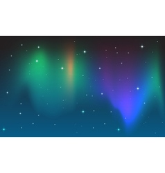Aurora in the sky vector