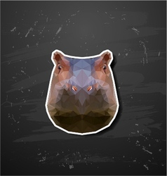 abstract triangle polygonal hippopotamus vector image vector image