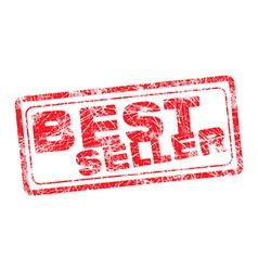 Best seller red grunge rubber stamp vector