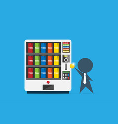 businessman use vending machine to buy time can vector image