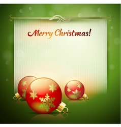 Christmas background for design vector image vector image